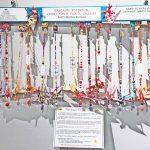 Paper Crane Display at Modesto's Mistlin Art Gallery