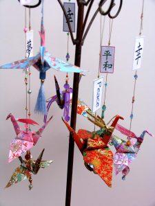 Paper Crane Mobiles with Single Crane