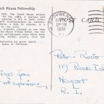 1951 Coach House Post Card Back