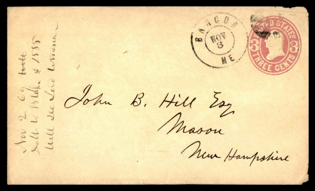 John B. Hill Esq Envelope 1850s