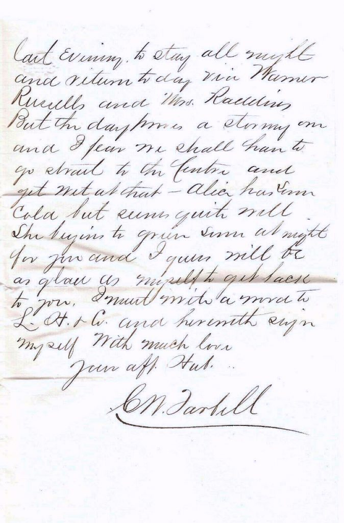 Charles W. Tarbell Letter page 2