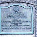The Boynton Plaque in Mason Town Center
