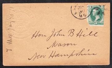 Letter to Hon. John B. Hill 1871, Mason, N.H.