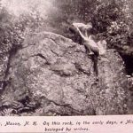 """Wolf Rock, Mason, NH On this rock in the early days, a Minister was besieged by wolves."""