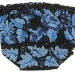 Blue Flower Beaded Purse needing repair