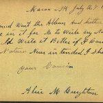 Alice M Creighton 1893 Autograph Book