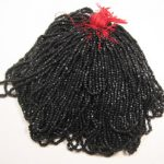 Hank of Black Faceted Antique Seed Beads