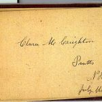 Clara M CREIGHTON 1893 Autograph Book Page
