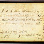 Ellen CREIGHTON 1877 Autograph Book Page