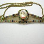 Jeweled Purse Frame with Portrait of a Lady