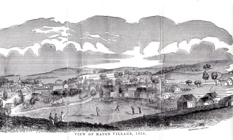 View of Mason Village in 1858