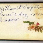 William A CREIGHTON 1878 Autograph Book Page