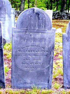 Elizabeth (Russell) Hill tombstone, Mason, NH
