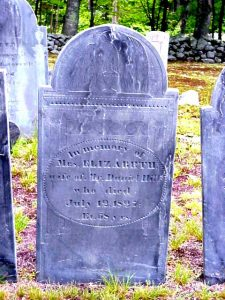 Elizabeth Hill tombstone, Mason, NH