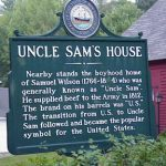 """Plaque in front of """"Uncle Sam's"""" home"""